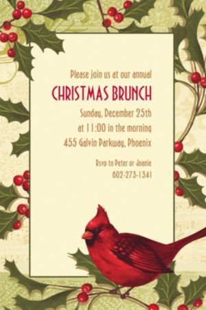 Custom Holiday Tidings Invitations