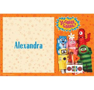 Custom Yo Gabba Gabba! Thank You Notes