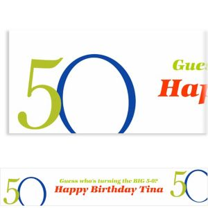 Custom Great Big 50th Banner 6ft