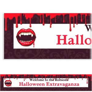 Custom Fangtastic Halloween Banner 6ft