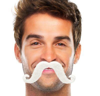 White Handlebar Moustache
