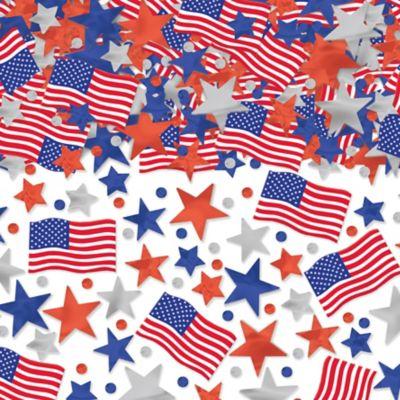 Patriotic Star & Flag Confetti