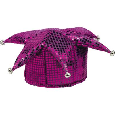 Purple Sequined Jester Hat