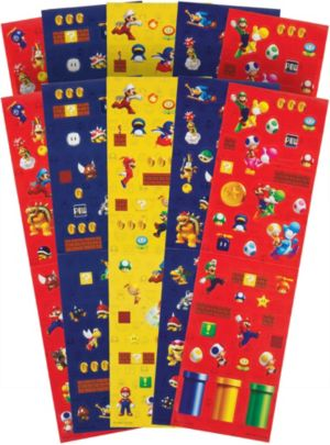 Super Mario Stickers Value Pack 10 Sheets