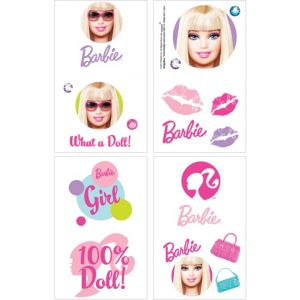 Barbie Tattoos 1 Sheet