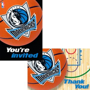 Dallas Mavericks Invitations & Thank You Notes for 8