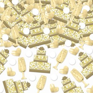 Gold Cake & Champagne Wedding Confetti 2 1/2oz