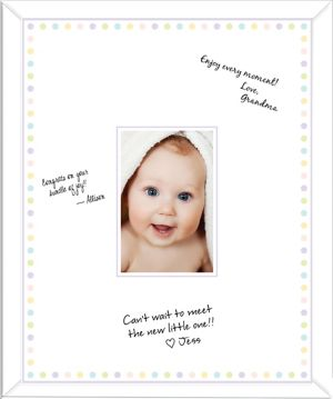 Baby Shower Autograph Photo Frame 16in