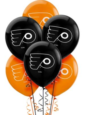 Latex Philadelphia Flyers Balloons 6ct
