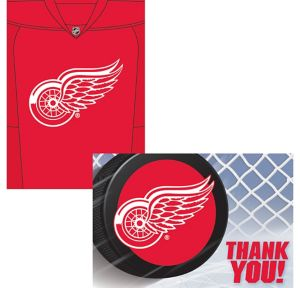 Detroit Red Wings Invitations & Thank You Notes for 8