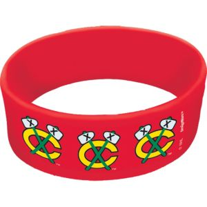 Chicago Blackhawks Wristbands 6ct