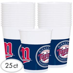 Minnesota Twins Plastic Cups 25ct