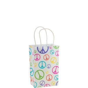 Peace Sign Mini Gift Bag
