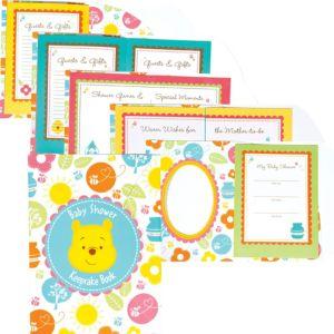 Winnie the Pooh Baby Shower Keepsake Book