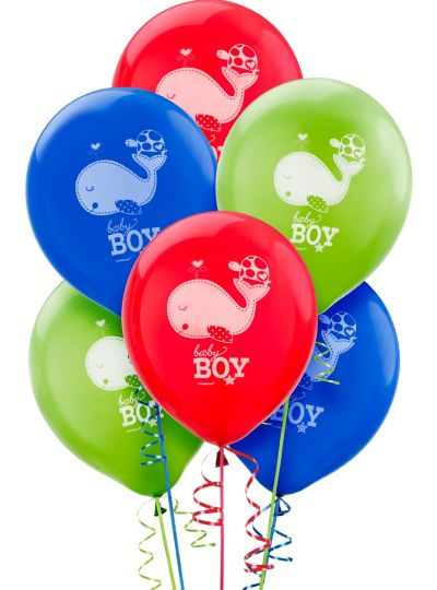 Baby Shower Balloons 15ct - Ahoy Baby Boy