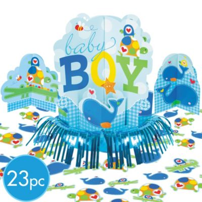Ahoy Baby Boy Baby Shower Table Decorating Kit 4pc