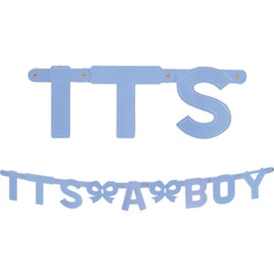 Large It's a Boy Baby Shower Banner 5ft