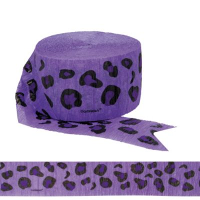 Purple Leopard Print Streamer