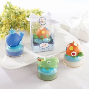 Ahoy Baby Boy Candle Baby Shower Favors 3ct