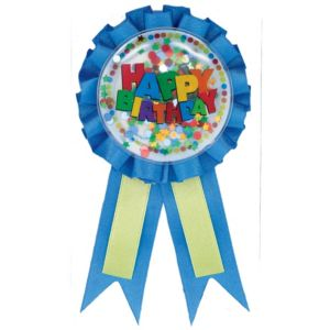 Boy Birthday Ribbon 5in