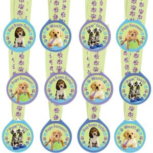 Party Pups Award Medals 12ct