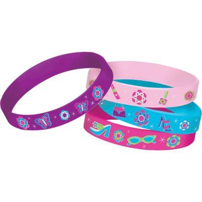 Glitzy Girl Wristbands 4ct