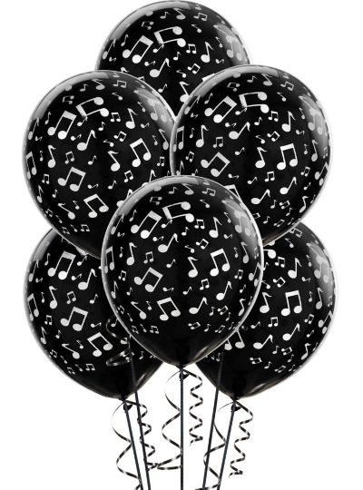 Music Notes Balloons 6ct