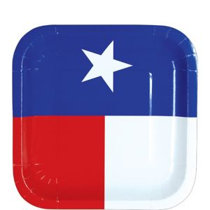 Texas Flag Dessert Plates 8ct