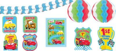 1st Birthday Cars Room Decorating Kit 10pc