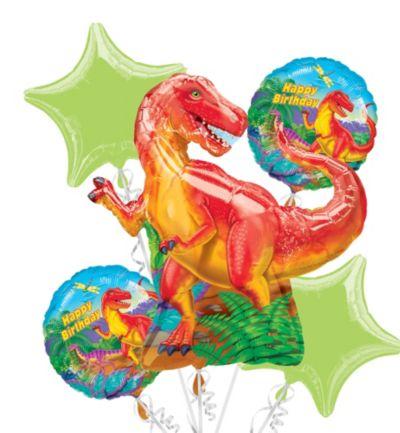 Prehistoric Dinosaurs Balloon Bouquet 5pc