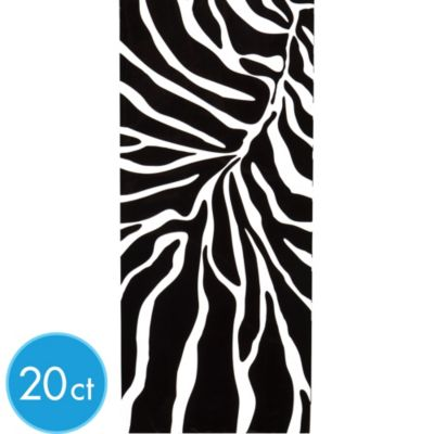 Zebra Print Treat Bag 20ct