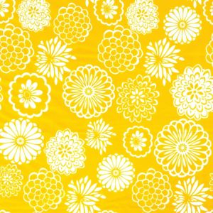 Yellow Mum Printed Tissue Paper 8ct