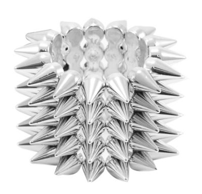 Silver Spikes Bracelet