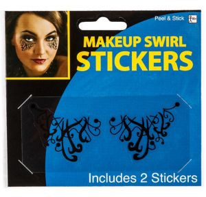 Black Swirl Eye Makeup Stickers