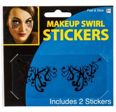 Black Swirl Eye Makeup Stickers