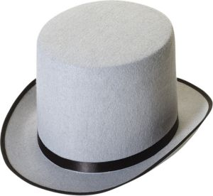 Gray Stovepipe Hat