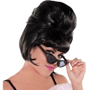 Classic Black Beehive Wig