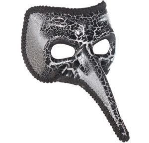 Black Crackle Long Nose Mask