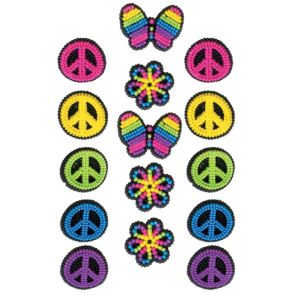 Neon Groovy Icing Decorations 15pc