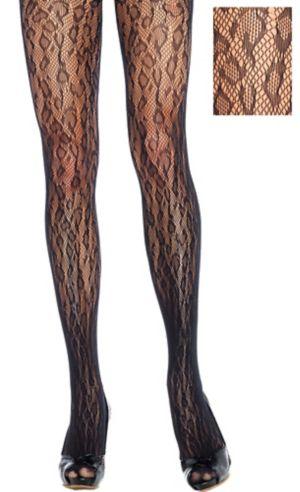 Adult Leopard Lace Pantyhose