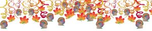 Thanksgiving Swirl Decorations 30ct