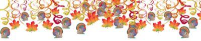 Thanksgiving Swirl Decorations 30ct