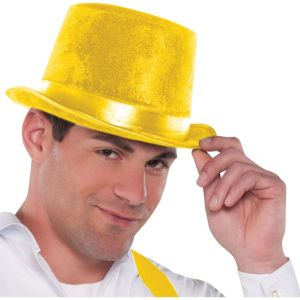 Velour Yellow Top Hat