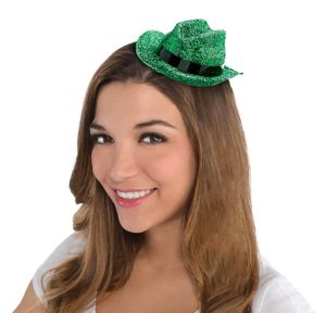 Green Glitter Mini Cowboy Hat