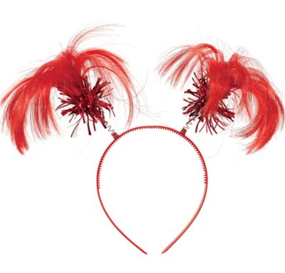 Red Ponytail Headband