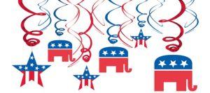 Republican Hanging Swirl Decorations 12ct
