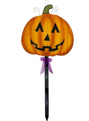 Wooden Pumpkin Yard Stake