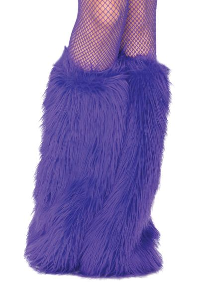 Adult Purple Furry Leg Warmers