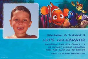 Custom Nemo and Friends Photo Invitations