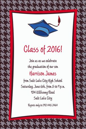 Custom Handsome Grad Guy Graduation Invitations
